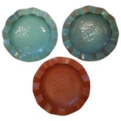 Mid-Century Zig Zag Ceramic Bowls by Design Technics