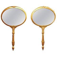 Pair of Mid Century Italian Mirrors by Palladio