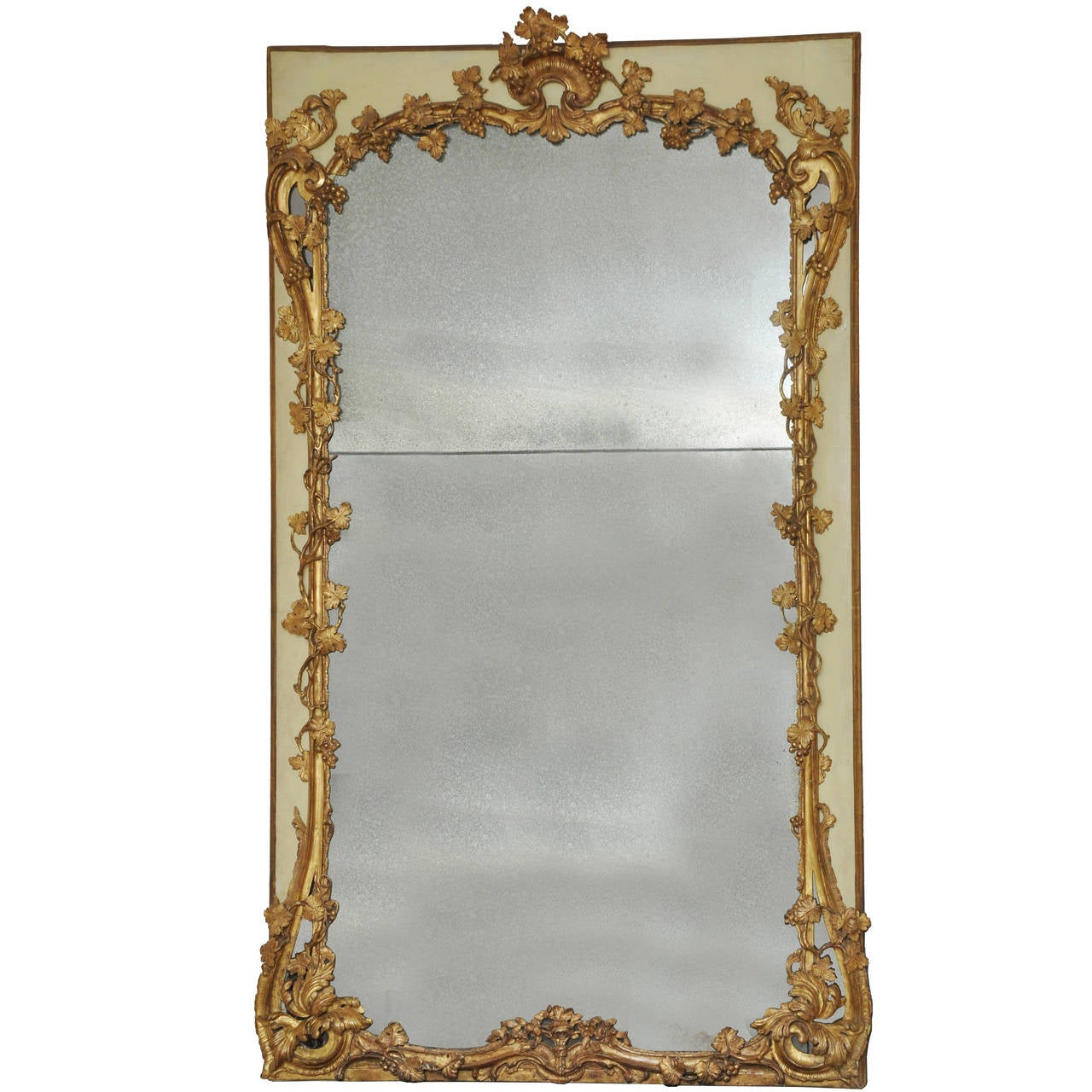 18th century french trumeau mirror provence for sale at 1stdibs. Black Bedroom Furniture Sets. Home Design Ideas