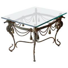 Mid-Century Iron Seahorse Table