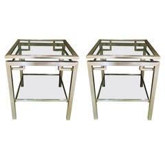 Pair of Guy Lefevre Side Tables
