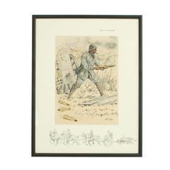 WWI Military Print, Bon Voyage