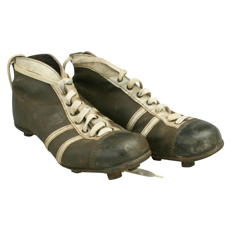 803d7bb6b Vintage Leather Football Boots at 1stdibs