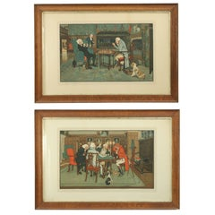 'Mated' and 'Revoked' Pair of Lithographs