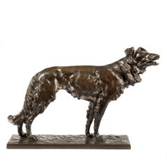 Patinated Bronze Borzoi