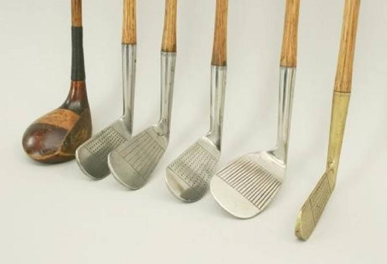 Set of Six Matched Playable Hickory Golf Clubs In Good Condition In Oxfordshire, GB