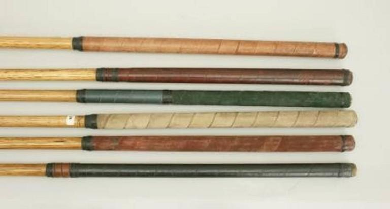 Early 20th Century Set of Six Matched Playable Hickory Golf Clubs