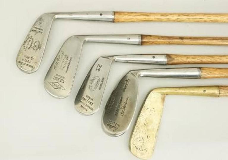 Set of Six Matched Playable Hickory Golf Clubs 1