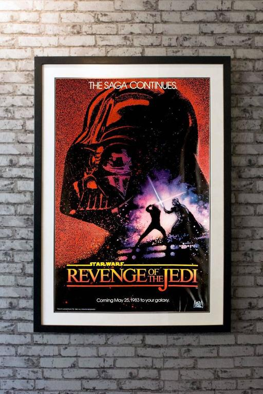 Quot Revenge Of The Jedi Quot Film Poster 1983 For Sale At 1stdibs