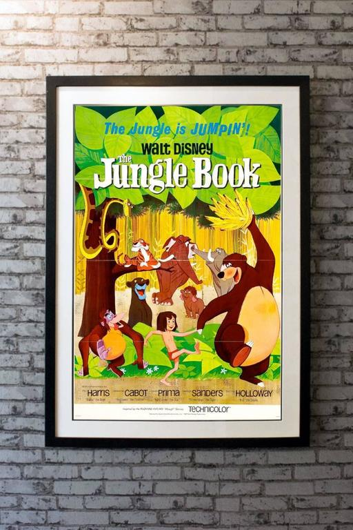 An immaculate condition tri-folded only poster for this enchanting Walt Disney classic. Everyone loves ' The Jungle Book'. Loosely based upon the tales of Rudyard Kipling, it is the 19th animated feature in the Walt Disney Animated Classics series,