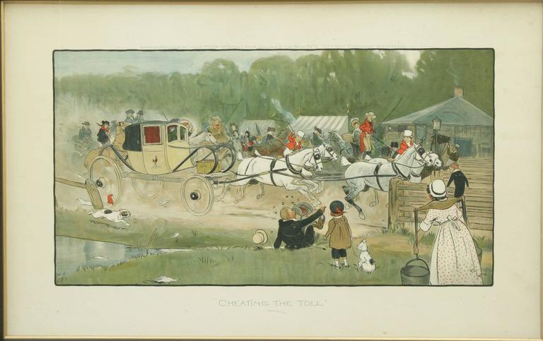 Sporting Art Equestrian Coaching Print,