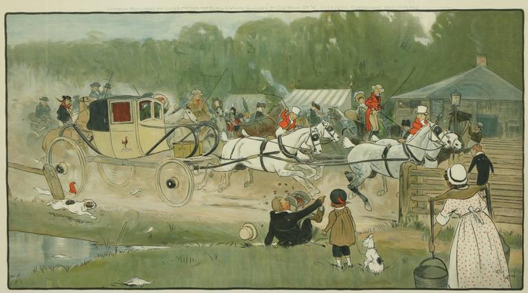 British Equestrian Coaching Print,