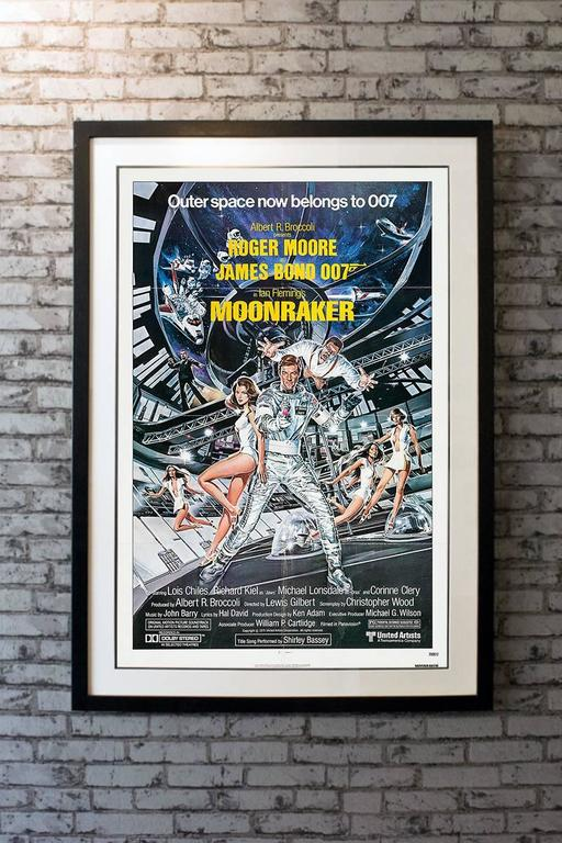 James Bond blasts off into outer space for this action epic that pits the forces of England against a maniac who plans the extinction of man!   Linen-backing + £150  Framing options: Glass and Single Mount + £250 Glass and Double Mount +