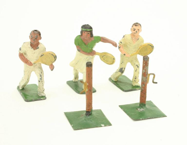 He is in good condition with original paint but with some paint loss. The base is marked \'Johillco, England\'.  John Hill & Company (or Johillco) were in direct competition to another lead toy manufacture, 'Britains'. Johillco was started by a