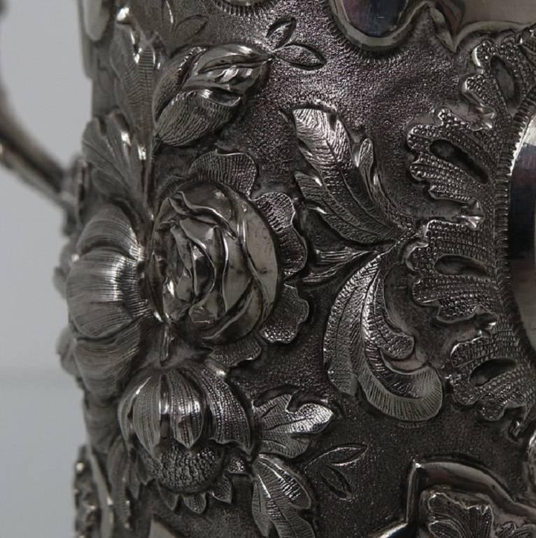 Antique Victorian Sterling Silver Christening Mug, London, 1848, Edward Edwards For Sale 1