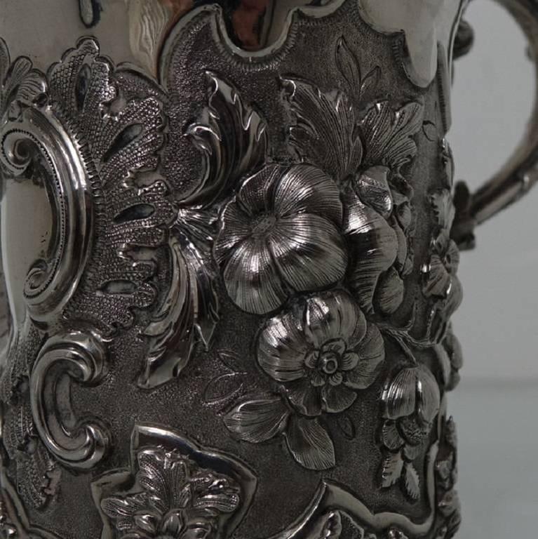 Antique Victorian Sterling Silver Christening Mug, London, 1848, Edward Edwards For Sale 2