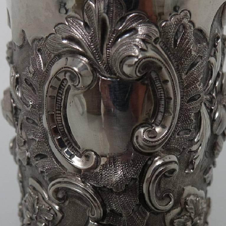 Antique Victorian Sterling Silver Christening Mug, London, 1848, Edward Edwards For Sale 3
