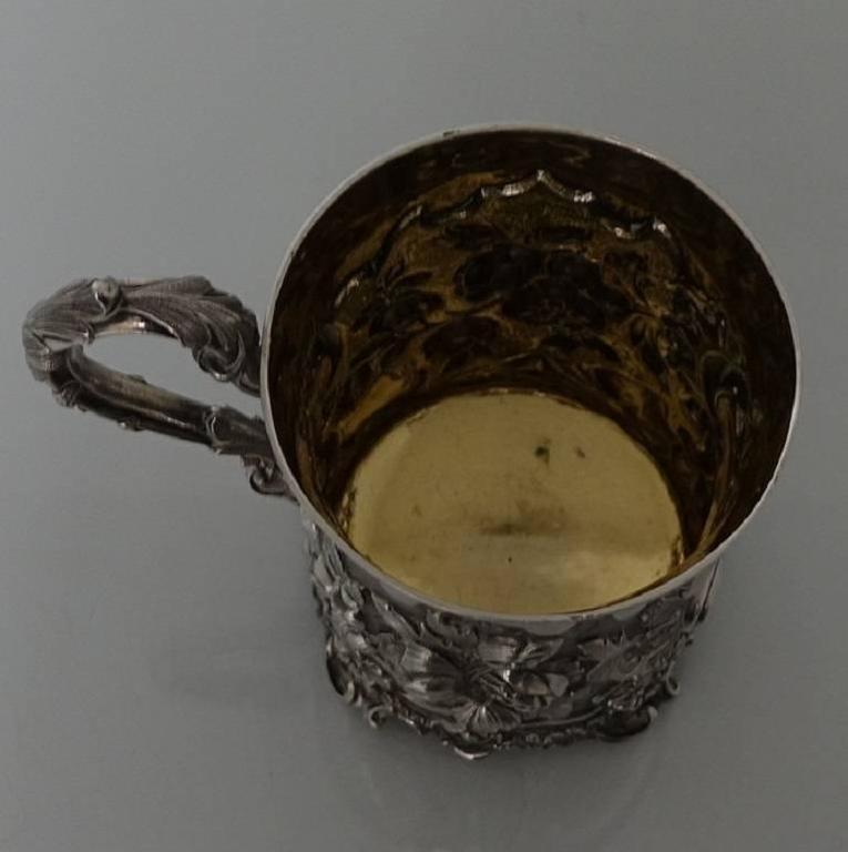 Antique Victorian Sterling Silver Christening Mug, London, 1848, Edward Edwards For Sale 5