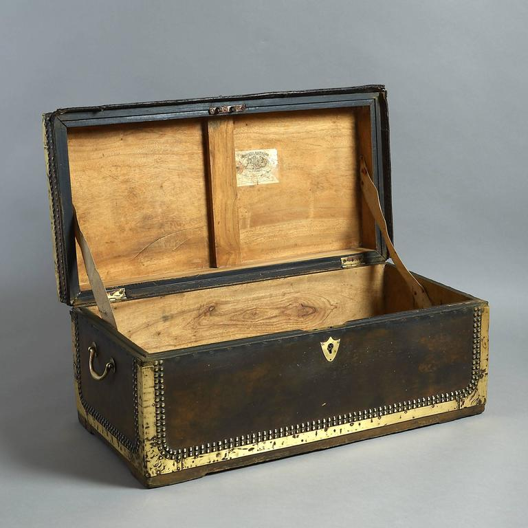 Mid-19th Century 19th Century Chinese Export Travelling Trunk For Sale