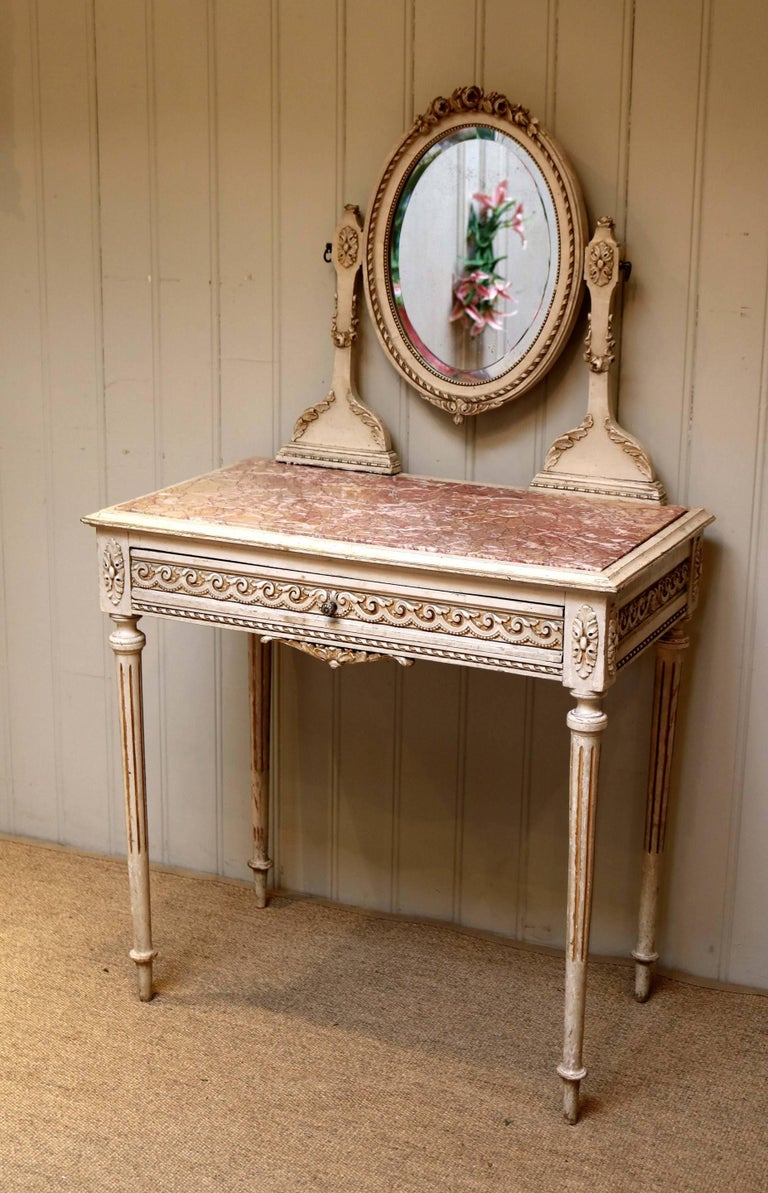 Painted Dressing Table ~ French original painted dressing table for sale at stdibs