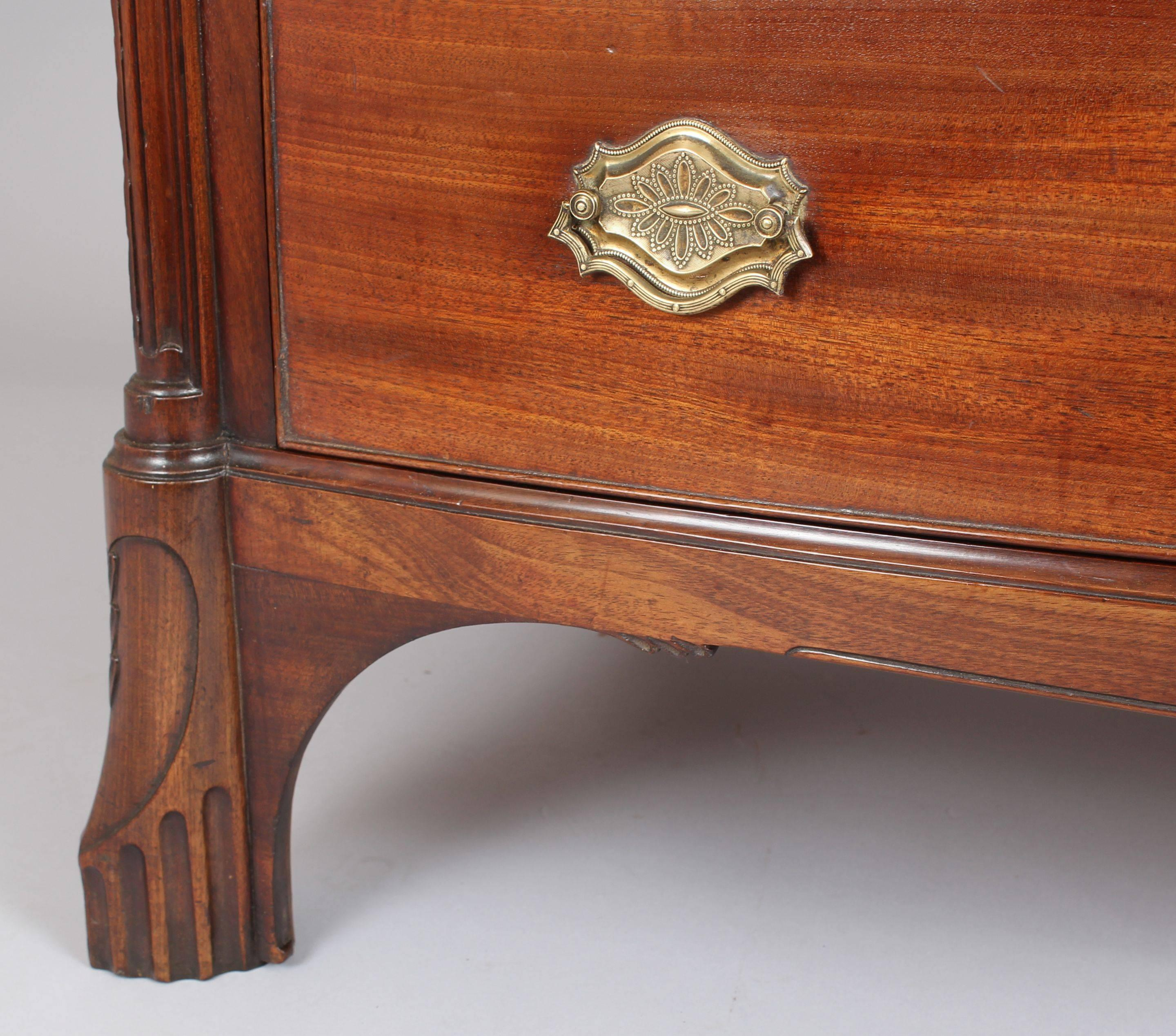 Mahogany Bow-Fronted Chest-of-Drawers of Channel Islands Origin