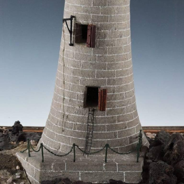 A Rare 19th Century Cork Model Of The Eddystone Lighthouse Which Was Designed By John
