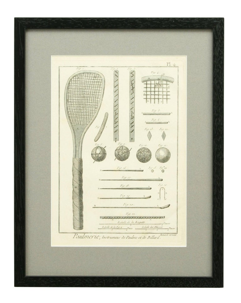 Antique Tennis Engravings, Paulmerie, Set of 9 In Good Condition For Sale In Oxfordshire, GB