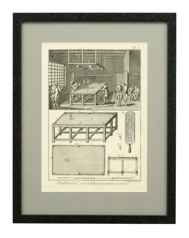 Late 18th Century Antique Tennis Engravings, Paulmerie, Set of 9 For Sale