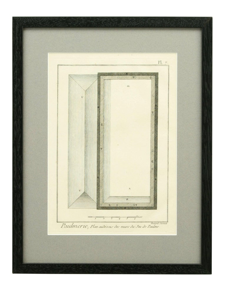 Antique Tennis Engravings, Paulmerie, Set of 9 For Sale 1