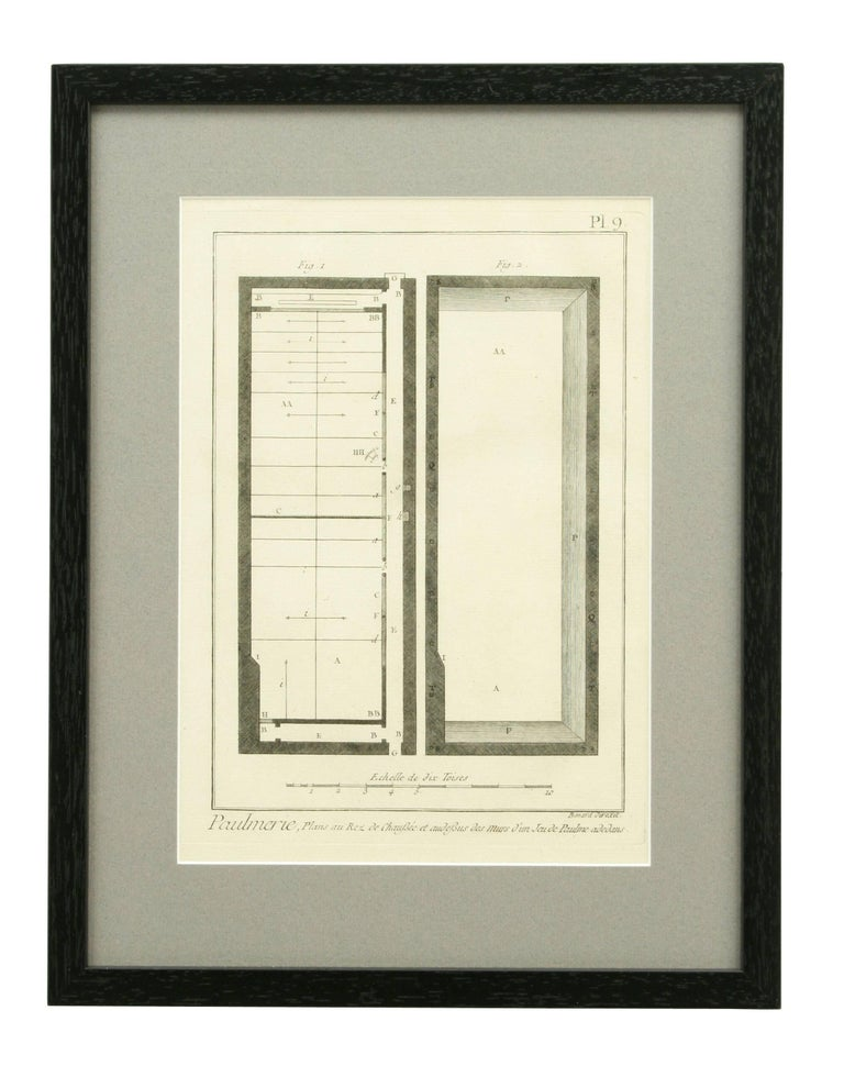 Antique Tennis Engravings, Paulmerie, Set of 9 For Sale 3