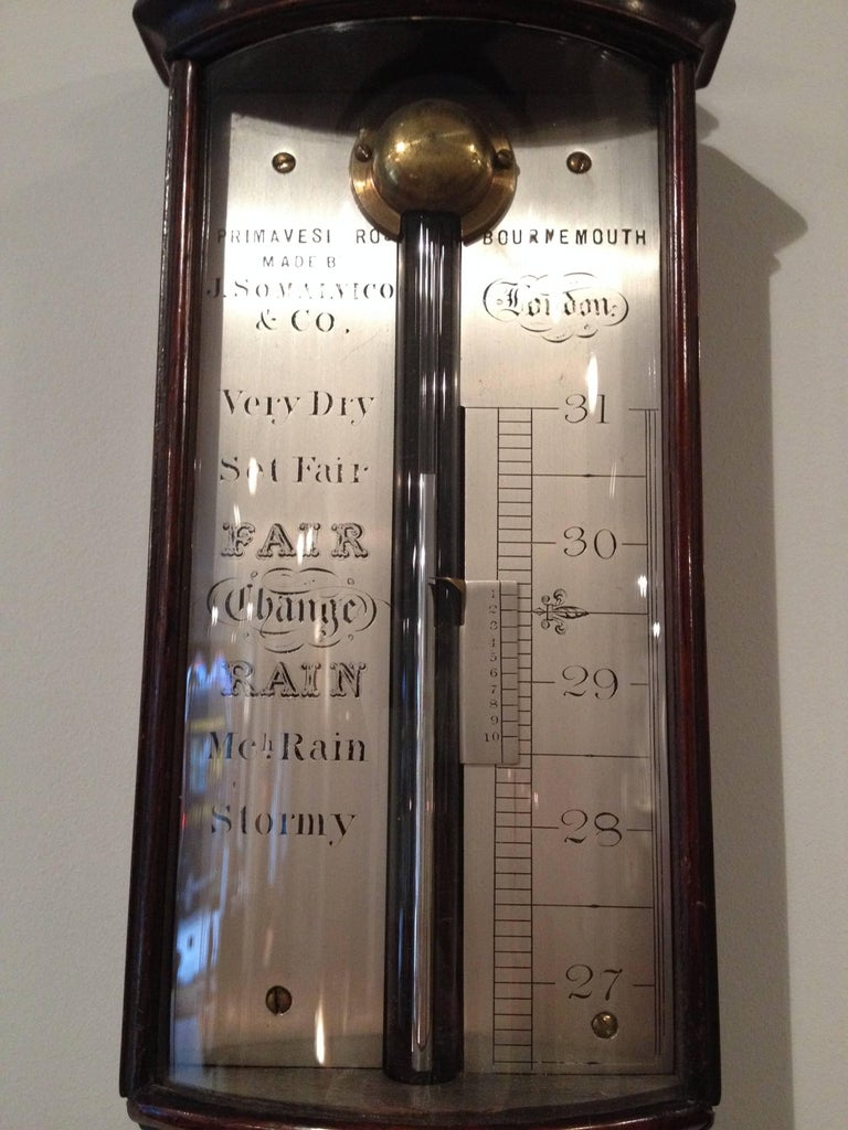 William IV bow-front barometer by J. Somalvico & Co, London