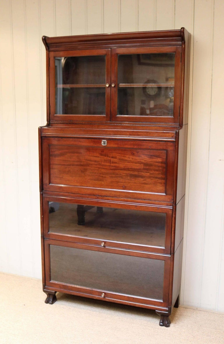 unusual mahogany bureau bookcase for sale at 1stdibs. Black Bedroom Furniture Sets. Home Design Ideas