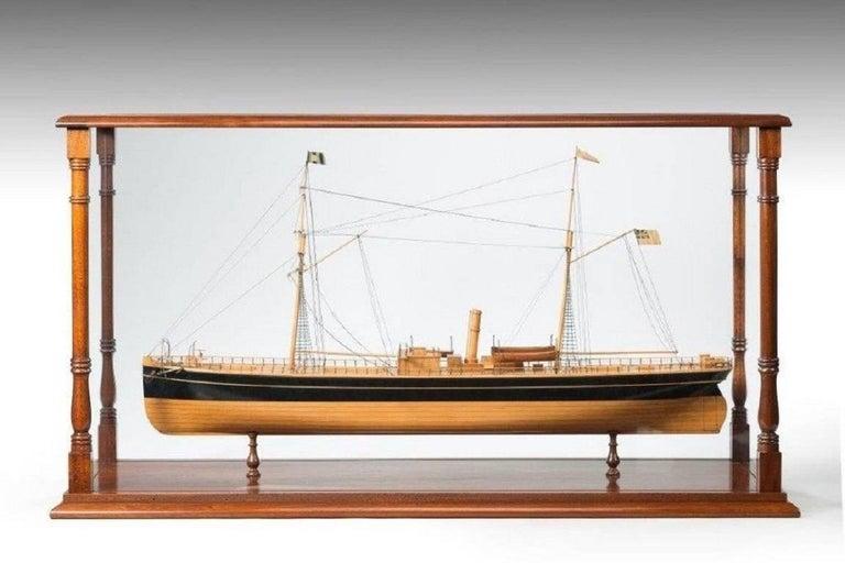 English Fine Shipyard Model of a Steamship For Sale