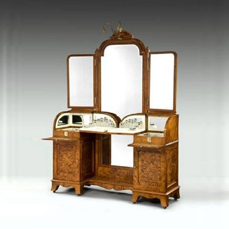 Silver fitted dressing table for sale at stdibs