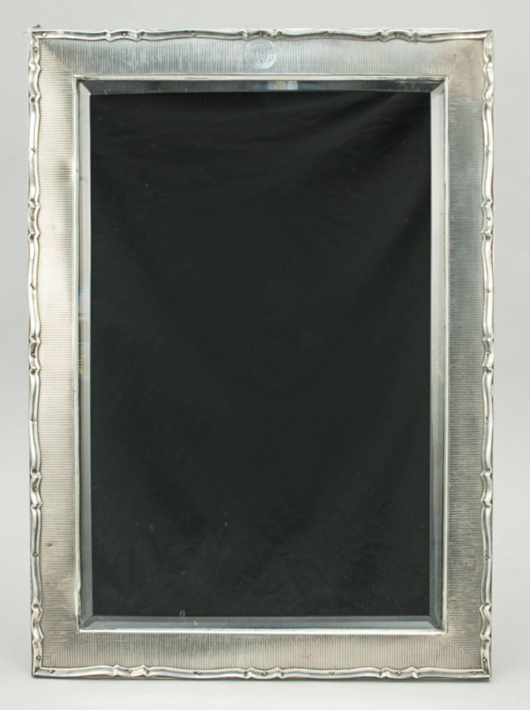 Silver framed mirror for sale at 1stdibs for Silver framed mirrors on sale