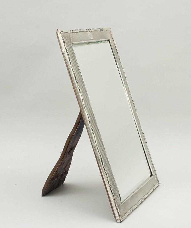 Silver framed mirror for sale at 1stdibs for Silver mirrors for sale