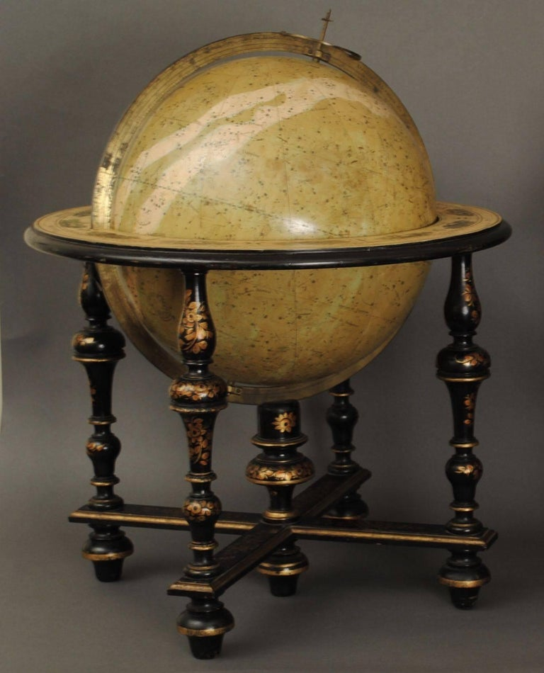 French Superb Pair of Delamarche Table Globes For Sale