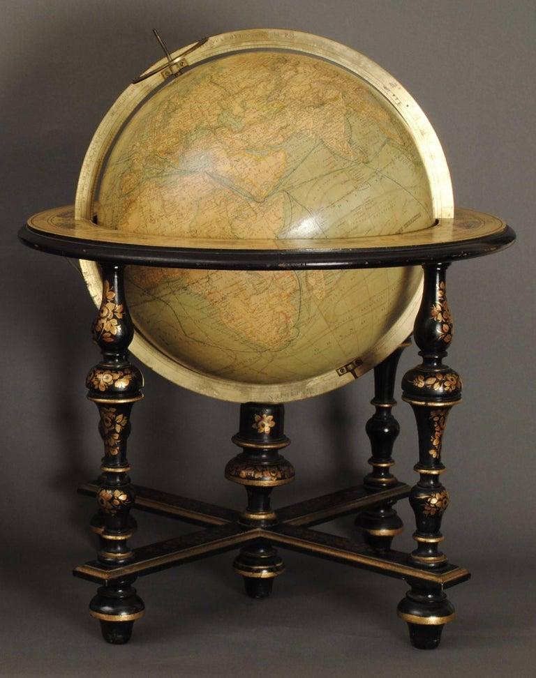 Superb Pair of Delamarche Table Globes In Good Condition For Sale In Lincolnshire, GB