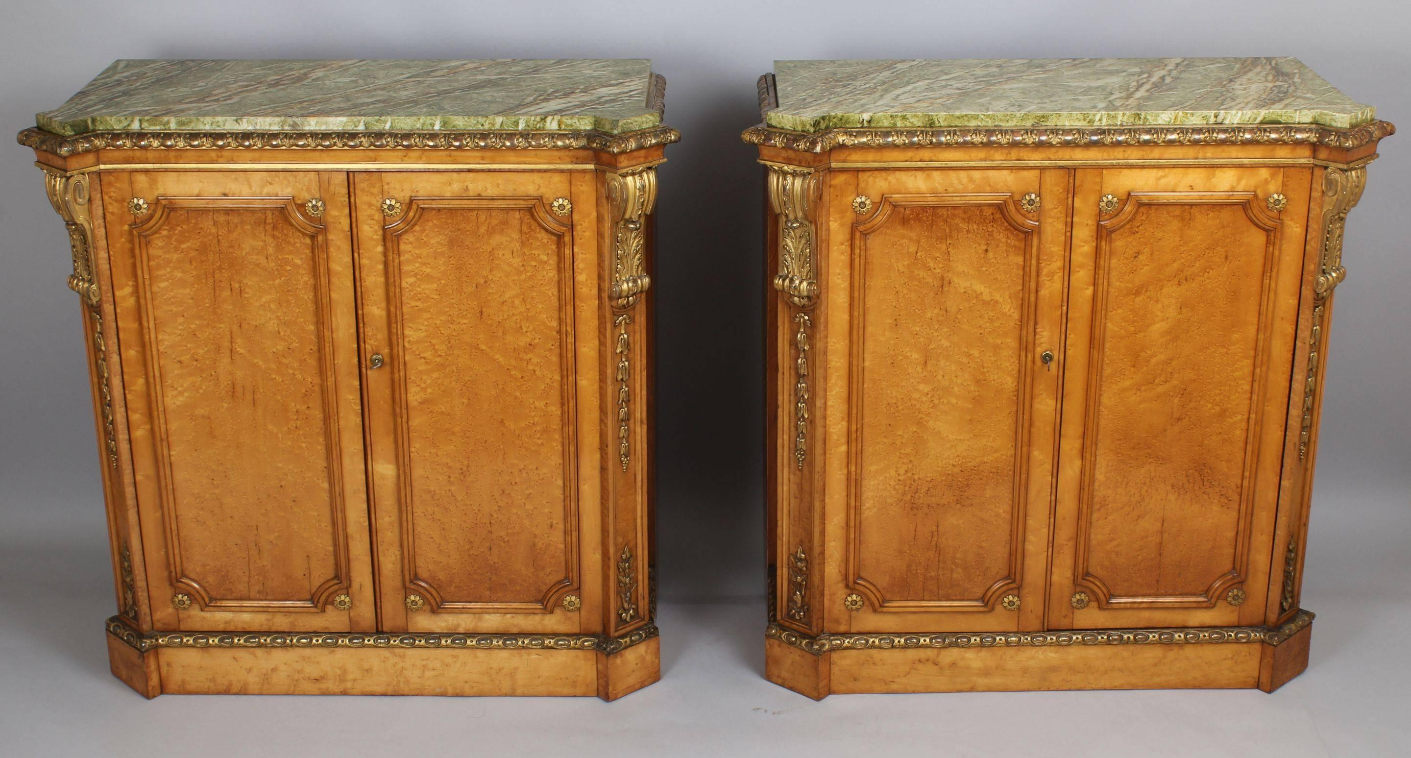 Fine Pair of Side Cabinets in the Manner of Holland & Sons