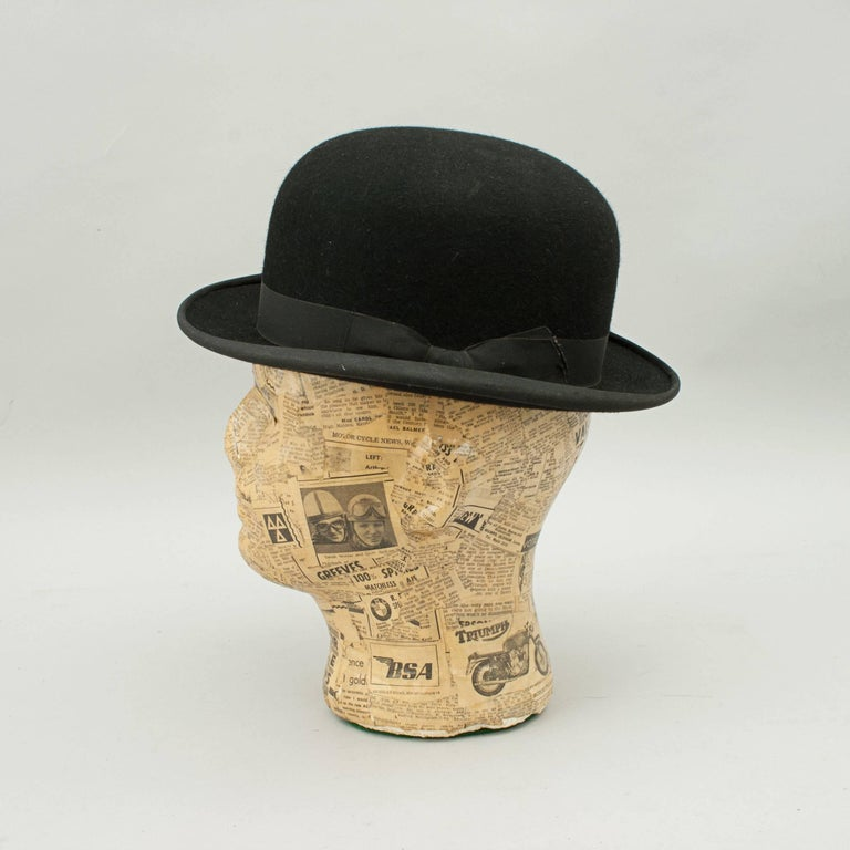 Equestrian bowler hat by Herbert Johnson. A hard crown black bowler hat  with a shaped 6db2c9d96a6