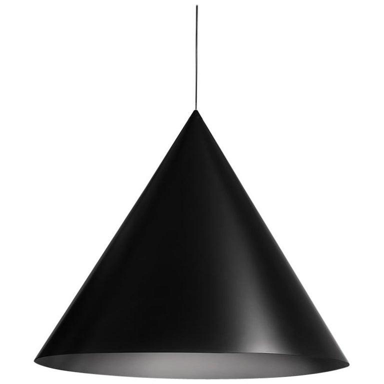 For Sale: Black (BL — Black) Firmamento Milano Large Cono Pendant by Carlo Guglielmi