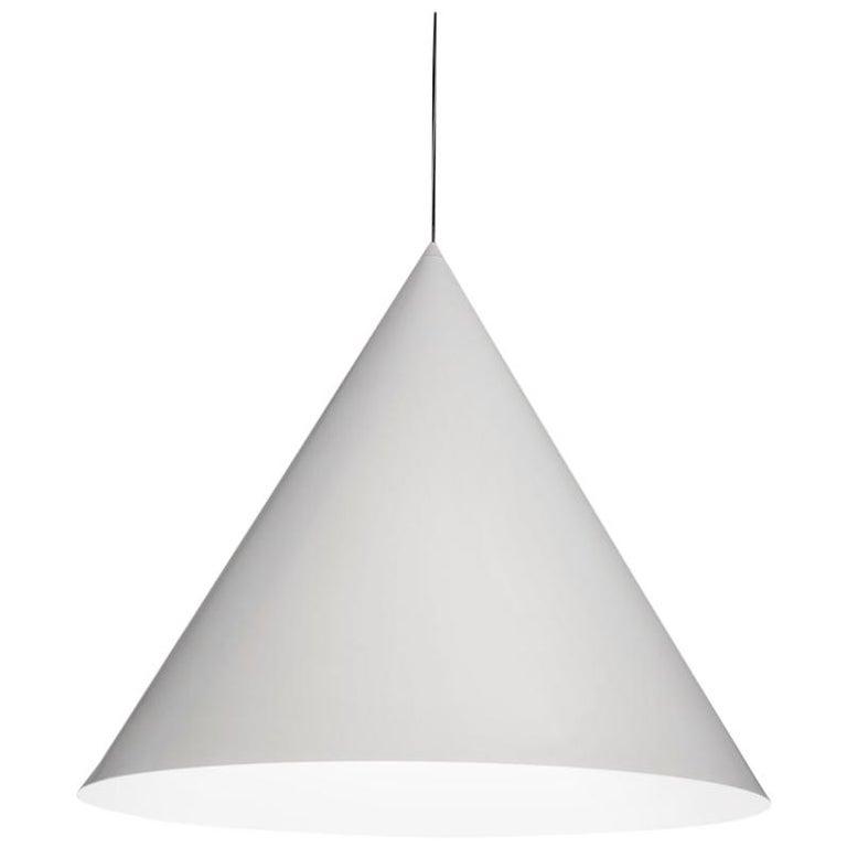 For Sale: White (WH — White) Firmamento Milano Large Cono Pendant by Carlo Guglielmi
