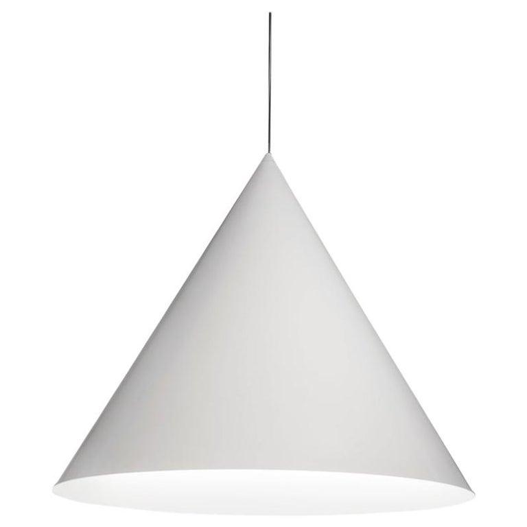 For Sale: White (WH — White) Firmamento Milano Medium Cono Pendant by Carlo Guglielmi