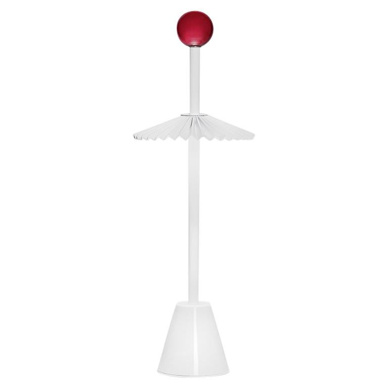 For Sale: White (WH — White) Firmamento Milano Etoile Rechargeable Table Lamp by Daniela Puppa