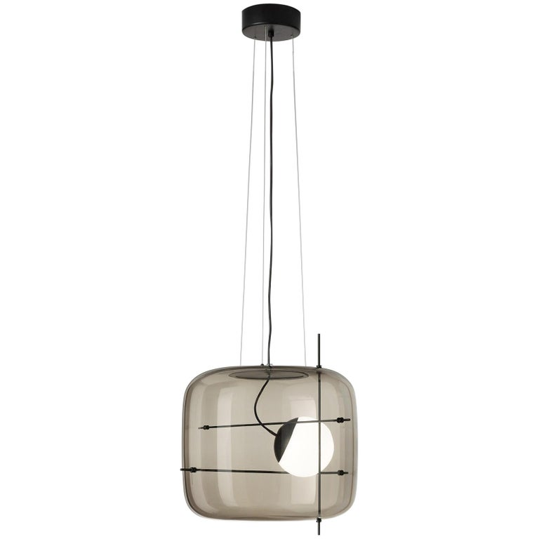 For Sale: White (Smoky and Black) Vistosi LED Plot SP Suspension Light by Chiaramonte & Marin
