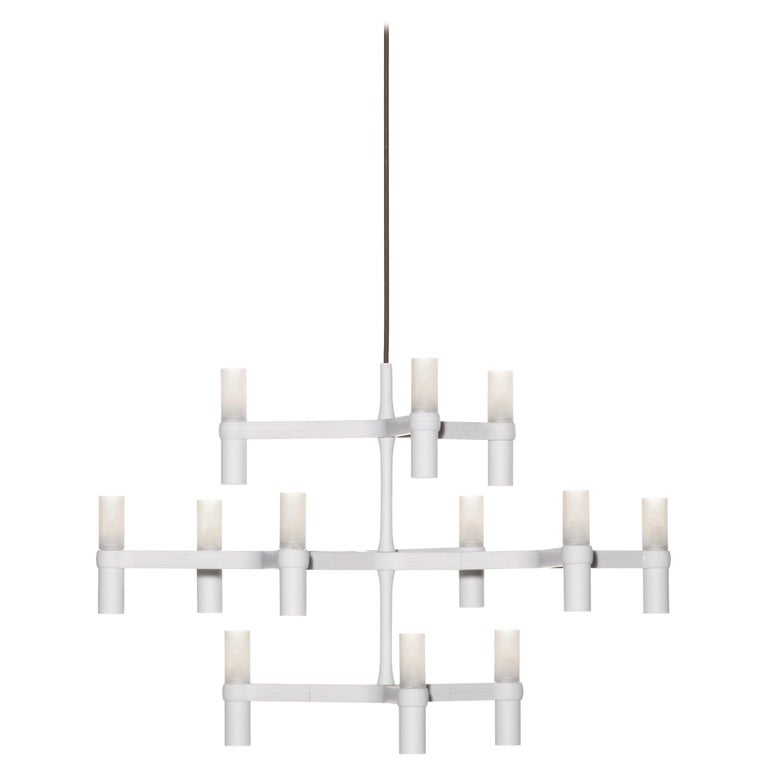 For Sale: White (White ) Nemo Crown Minor Dimmable Pendant Chandeliers by Jehs + Laub