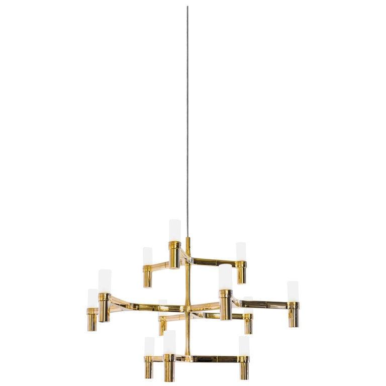 For Sale: Gold (Gold Painted) Nemo Crown Minor Dimmable Pendant Chandeliers by Jehs + Laub