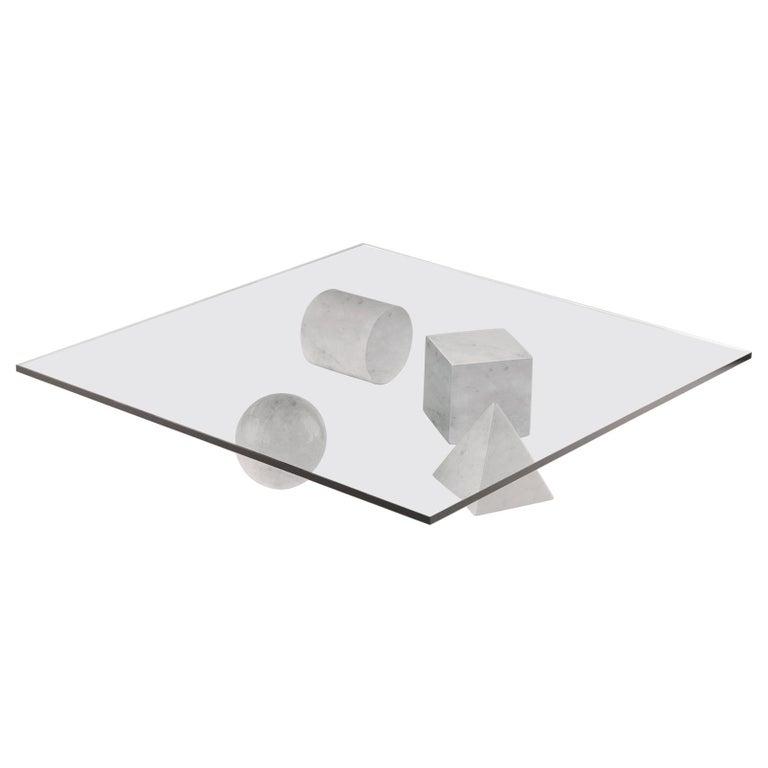 For Sale: White (Carrara White) Martinelli Luce Metafora 1979 Table by Lella and Massimo Vignelli