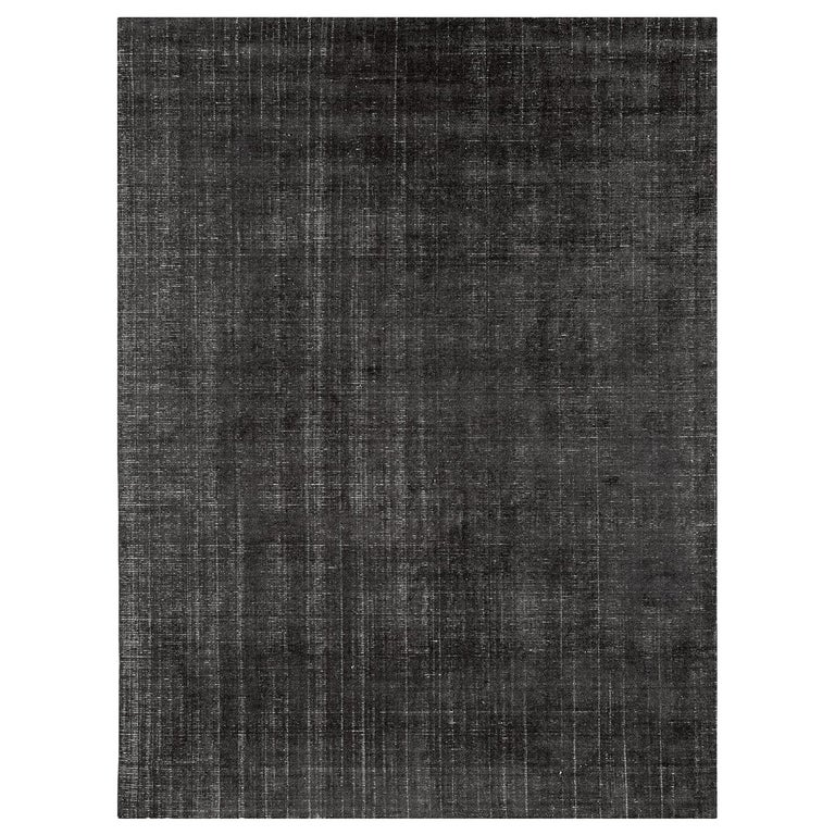 For Sale: Gray (Distressed Wool Charcoal) Ben Soleimani Distressed Wool Rug 8'x10'