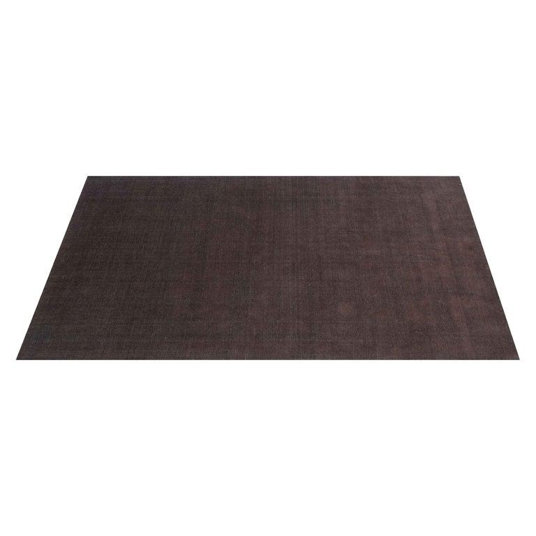 For Sale: Brown (Distressed Wool Espresso) Ben Soleimani Distressed Wool Rug 8'x10'